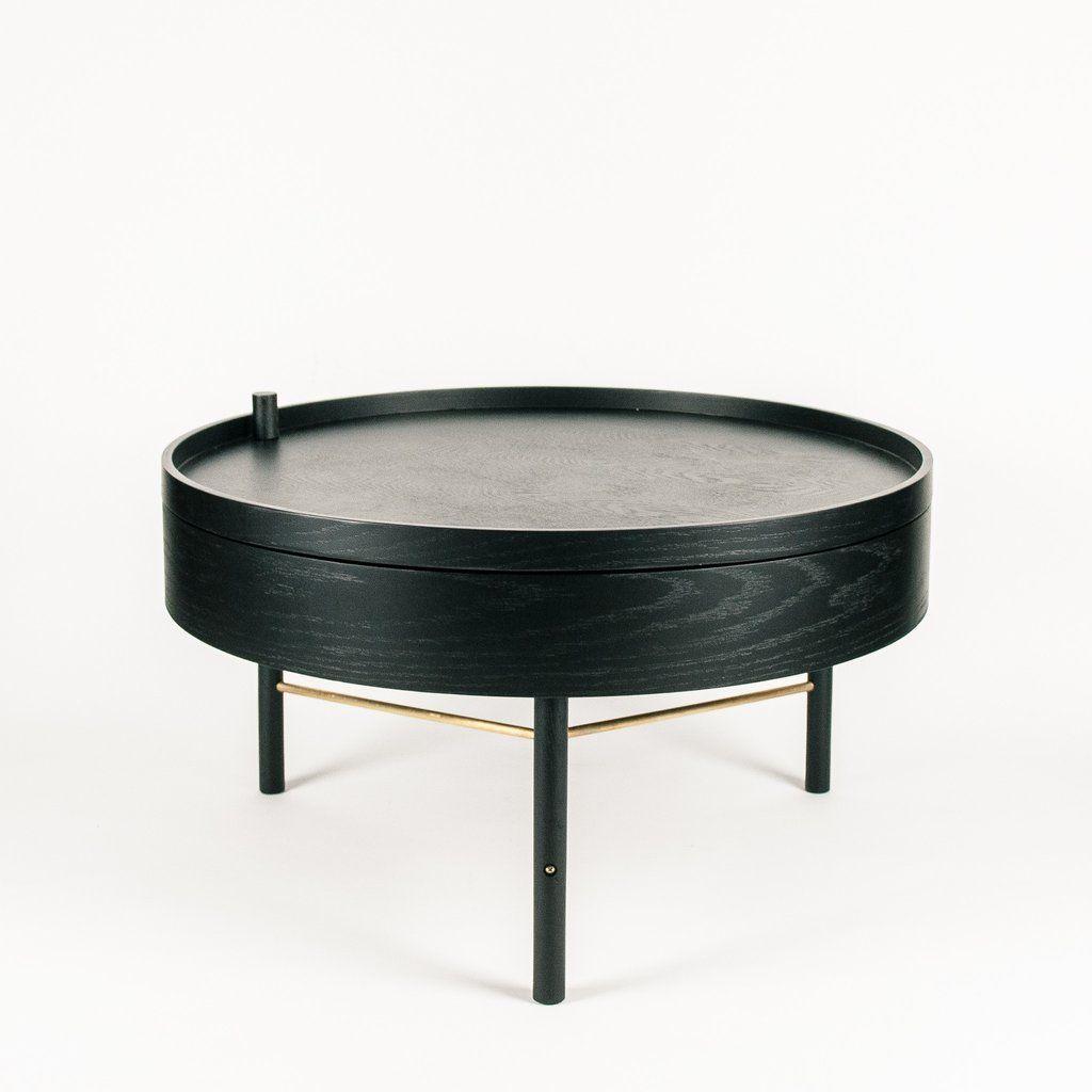 Menu turning table black ash furniture coffee table