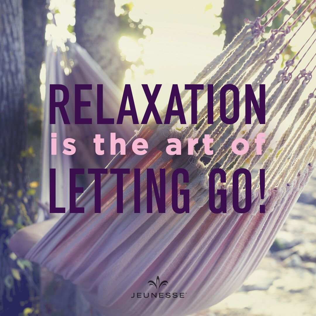 Relaxation is the art of letting go! -