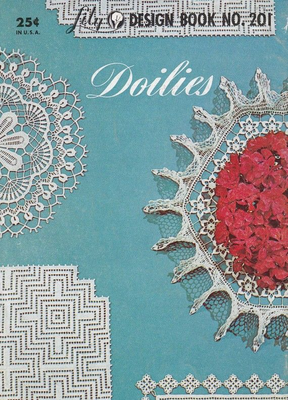 Vintage tapetitos Crochet Patrón folleto de Lily por PaperButtercup ...