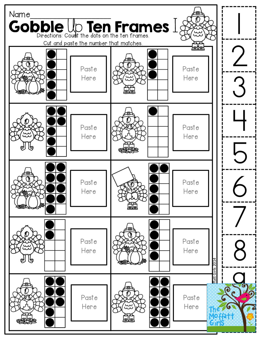 Ten Frame (Cut and Paste)! Tons of hands-on printables! | Daycare ...