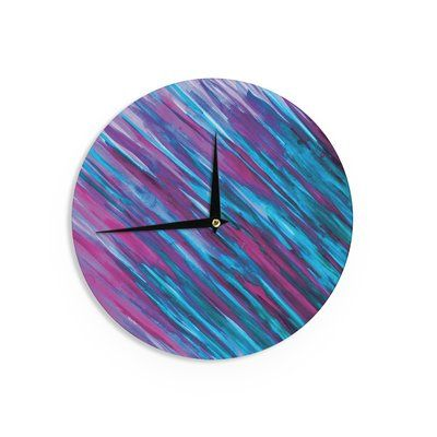"East Urban Home Theresa Giolzetti 'Purple' 12"" Wall Clock"