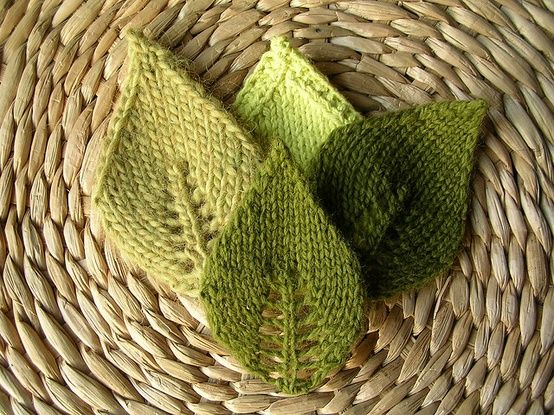 Knit a leaf or two or loads (tips)