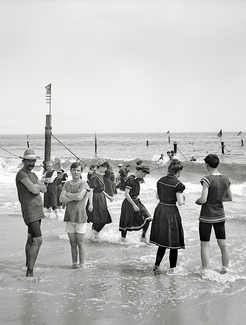 new york circa 1905 surf bathing at coney island alte fotos. Black Bedroom Furniture Sets. Home Design Ideas