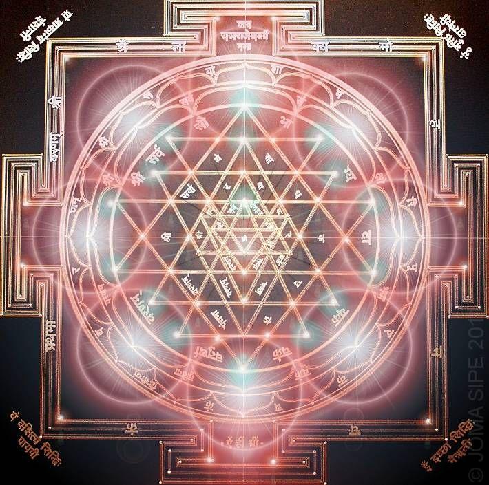 SRI YANTRA • 90x90cm • sacred geometry • artist: joma sipe (portugal)