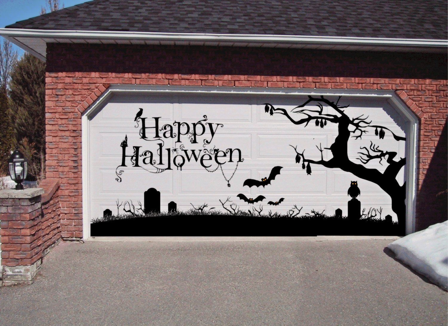 Get in the spirit with these Halloween garage door decorations that - Halloween Garage Door Decorations