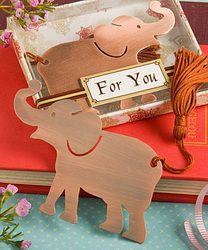 Alluring Elephant Bookmark Favor wedding favor #ethnic favors multicultural favors