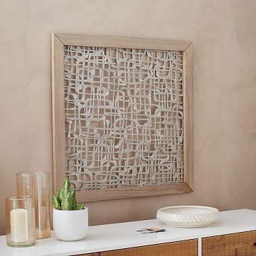 Framed Handmade Paper Wall Art Neverending Path Westelm Paper Wall Art Handmade Paper Handmade Wall Art