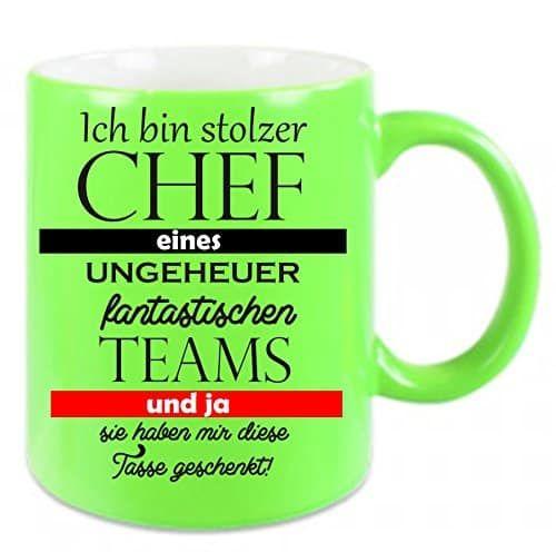 Tasse für den Chef - lustiger Becher mit flottem Spruch ...