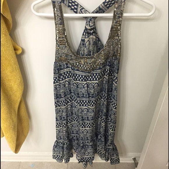 Beaded Dress Never worn boho vibe dress Brigitte Bailey  Dresses Mini
