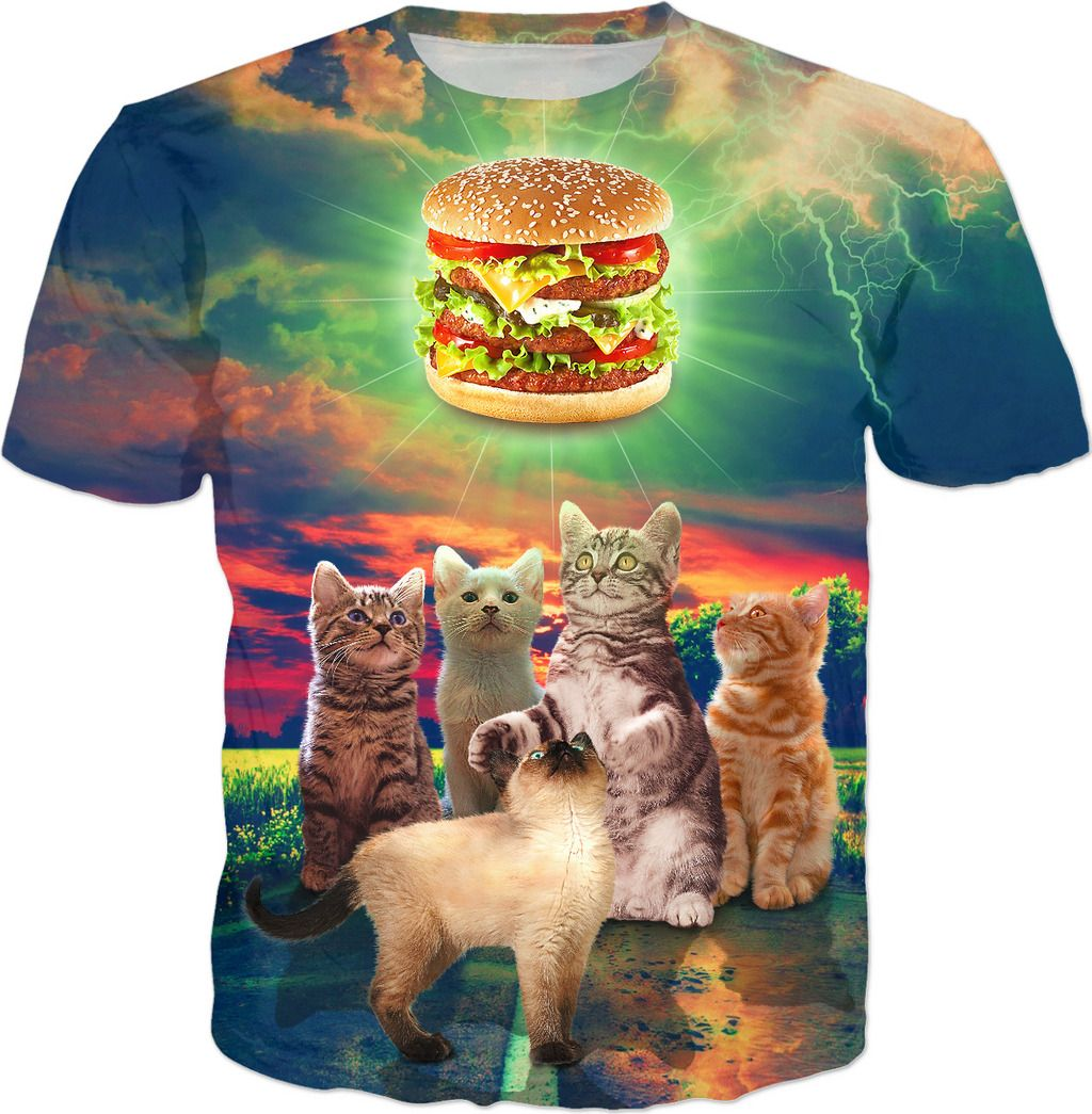 Kittens Admiring A Delicious Burger Men Women And Kids T Shirts Kids Tshirts Kittens Kittens Cutest