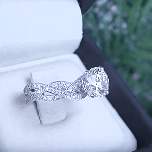 Braided Band Solitaire See Prices Braided engagement