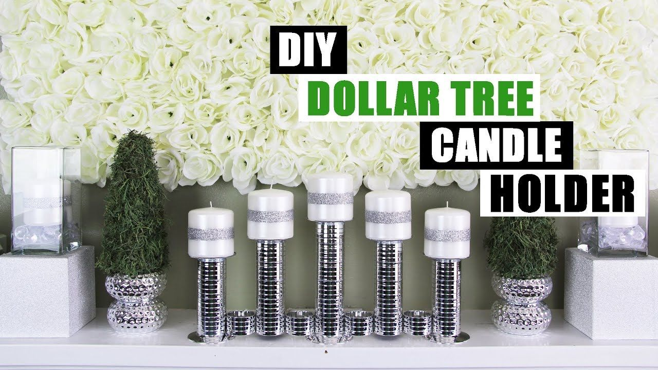 Diy dollar tree candle holder diy home decor youtube dollar tree