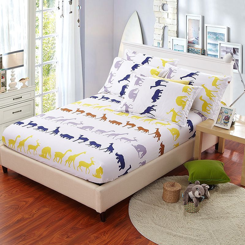 Bed Sheet U0026 Pillow Case Yellow Printed Sheets Colored Mattress Cover  Protector Anime Sheets Queen Size