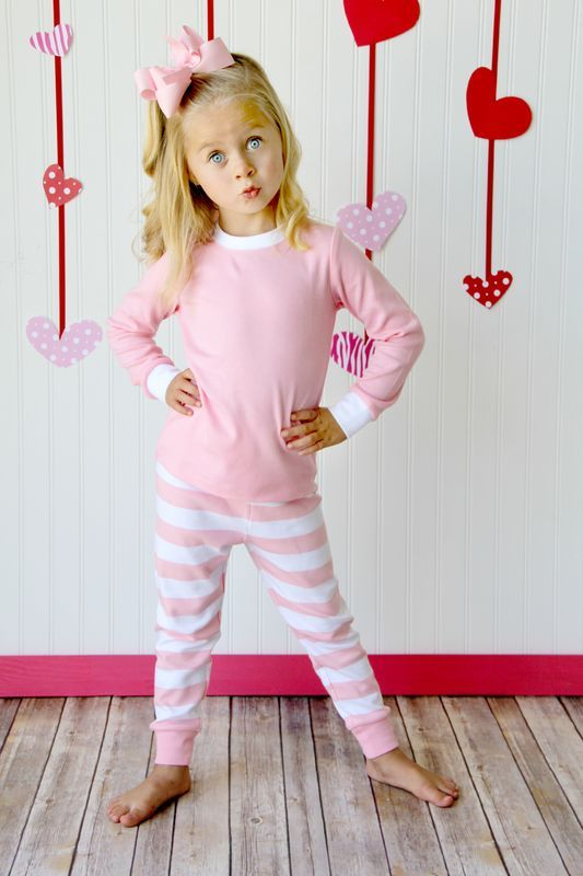 06b6e20e3a Pink Striped PJS for Valentine s Day  ARB Blanks