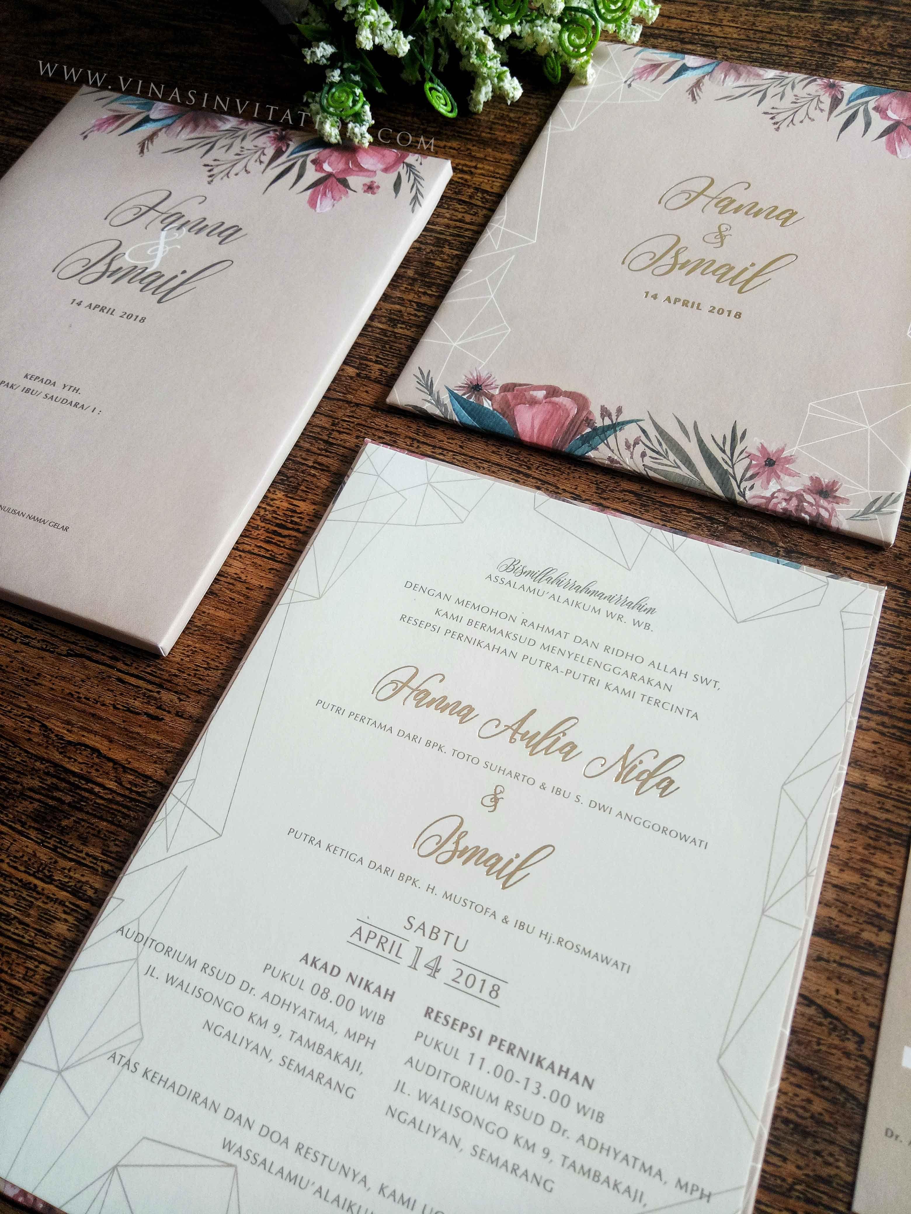 Vinas Invitation Indonesian Wedding Flower Blossom Theme Custom Invitation Wedding Invitation Undangan Pernikahan Undangan Perkawinan Dekorasi Perkawinan