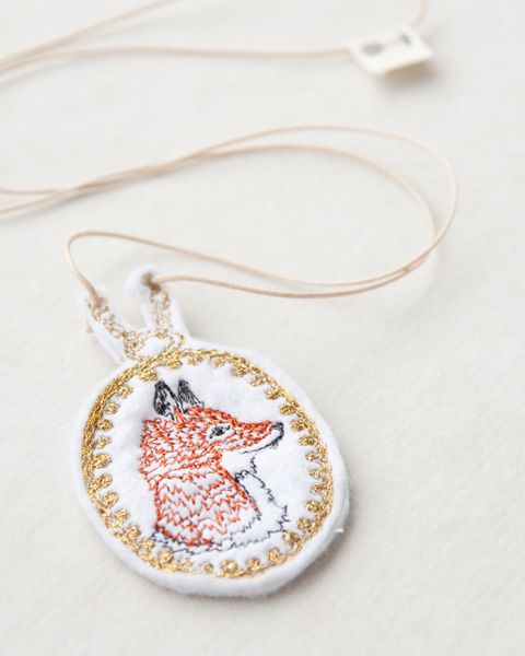 Coral&Tusk embroidery necklace
