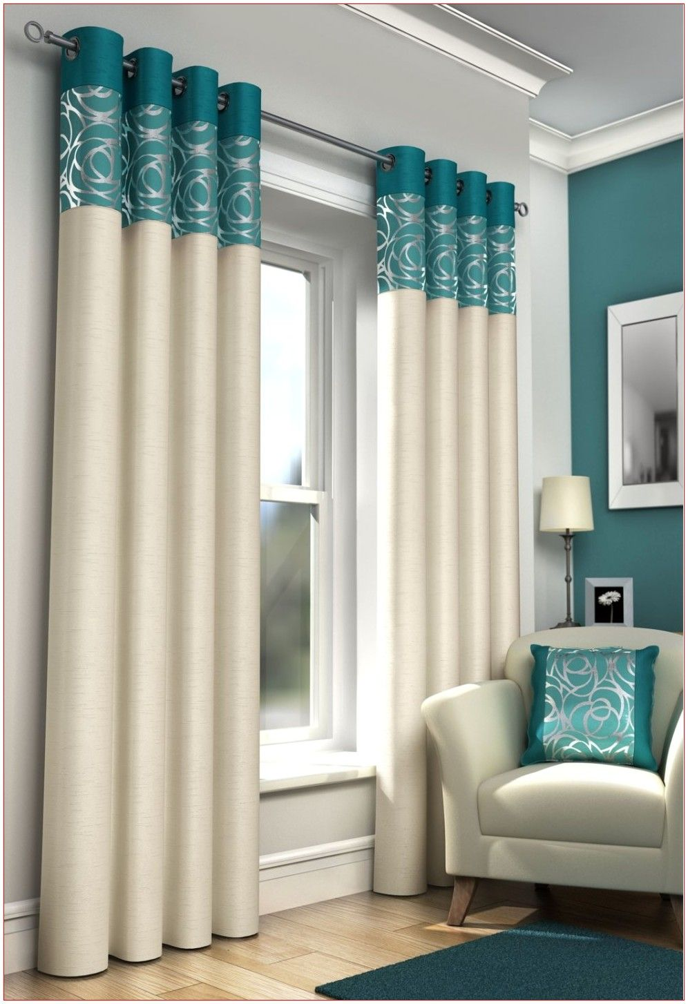 Drapes For Living Room Teal In 2020 Teal Curtains Curtain Designs Home Curtains