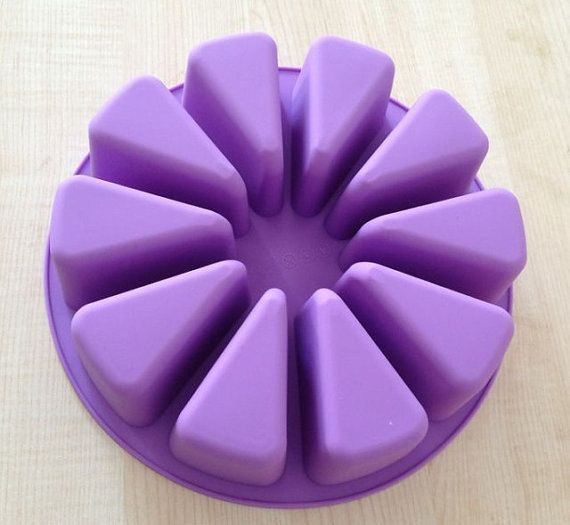 10-cavity Triangle Round Cake Mold Soap Mold Flexible Silicone Mold Candy Food
