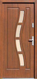 Exterior wooden doors, pattern 544.1, dark oak color- Drzwi …