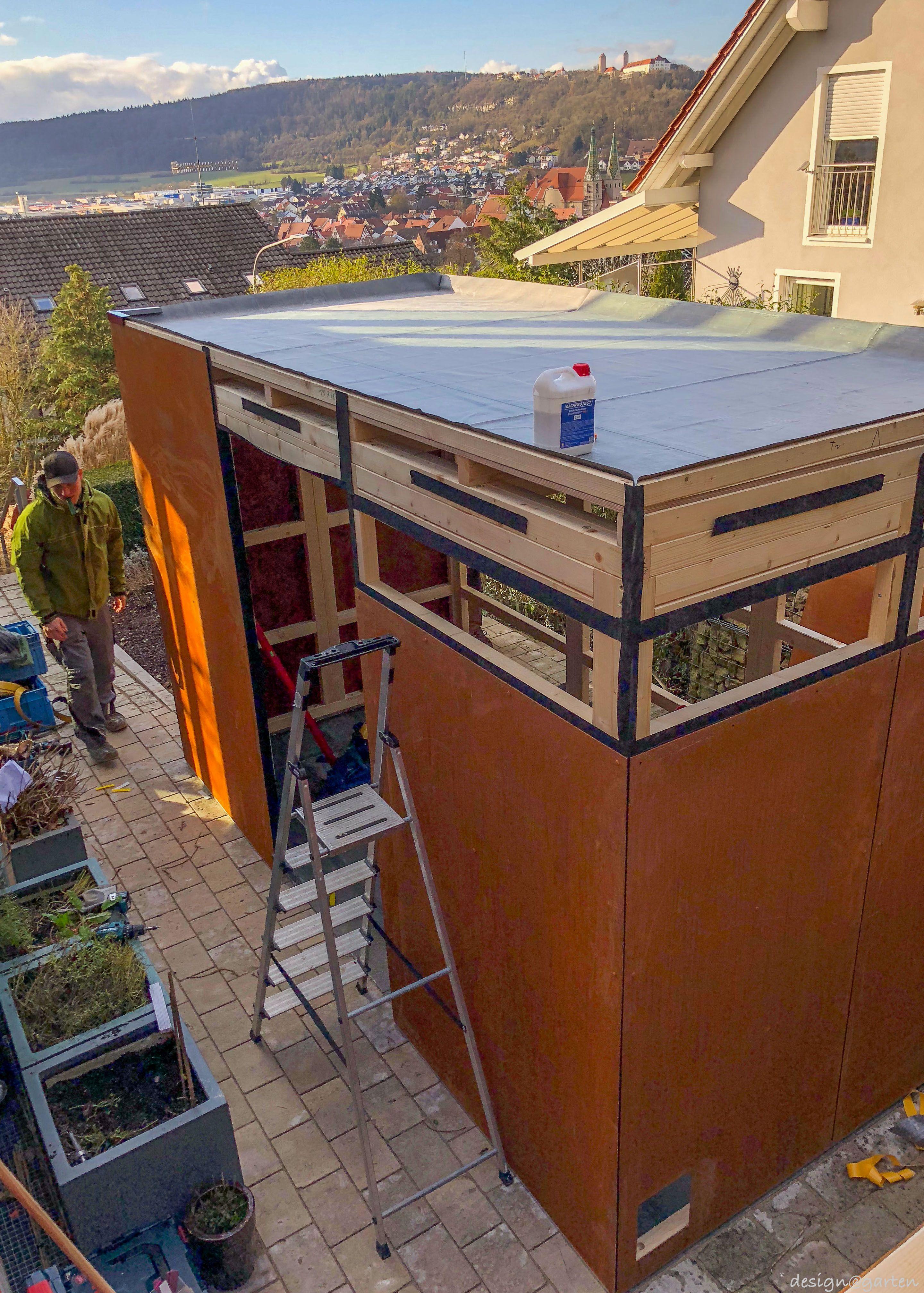 Corten Design Gartenhaus @_gart by design@garten   Augsburg