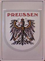 Das Nostalgie-Schild zeigt den Preußischen Königsadler.