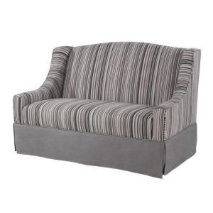 Home Decorators Collection 52 in. Gray Olivia Settee with Skirt-0822300270 at The Home Depot