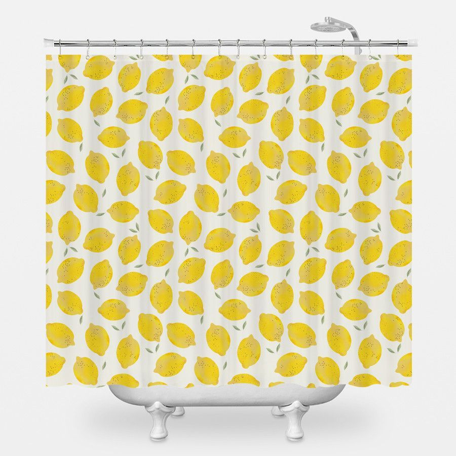 Lemon Shower Curtain Cute Shower Curtains Bathroom Themes