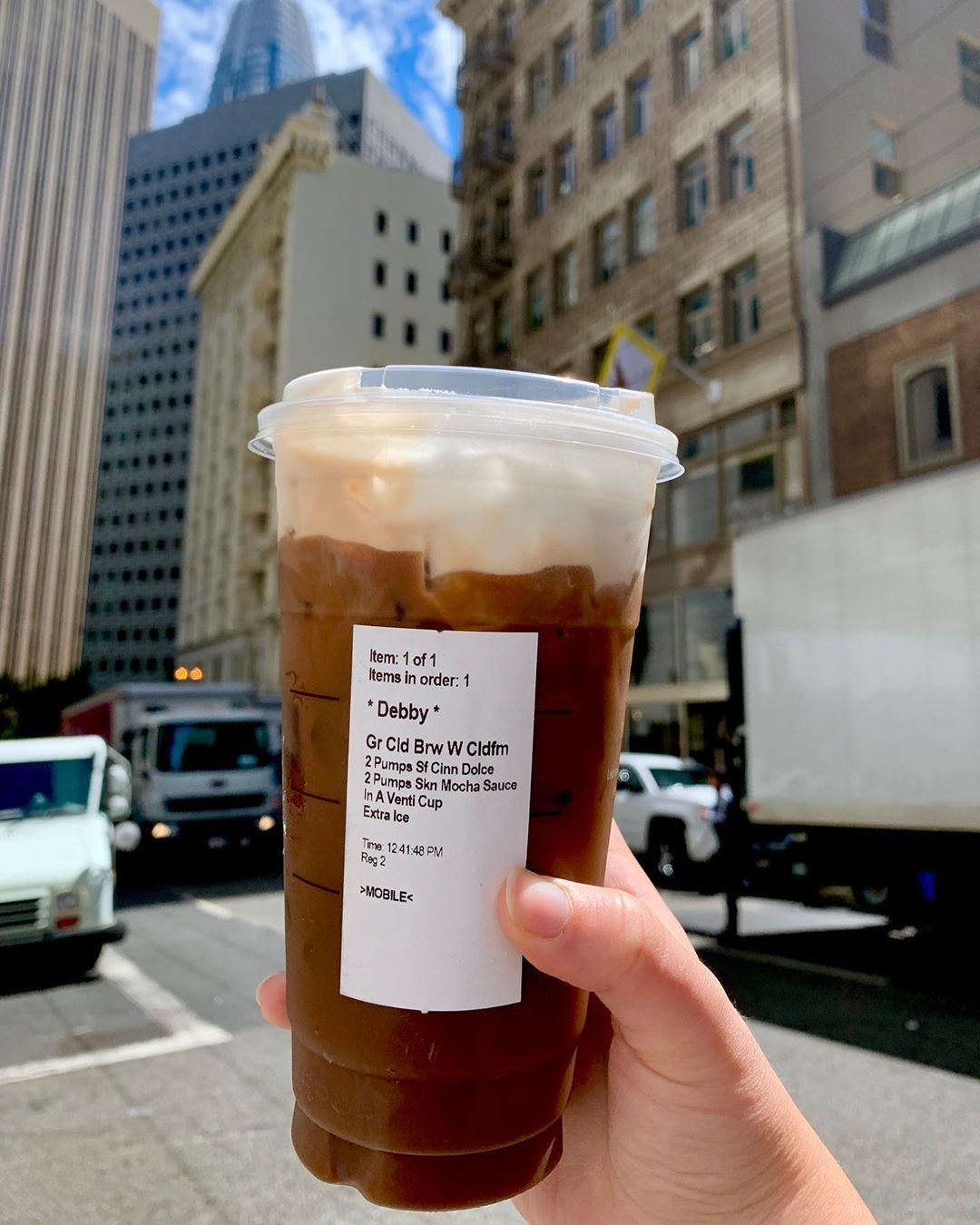 YUM!! New @starbucks Drink: Grande Cold Brew With Cold