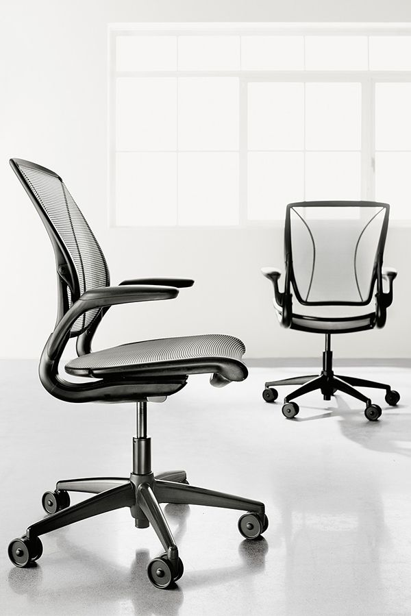 Diffrient World Black Office Chair Modern Office Chairs Task Chairs Modern Office Furniture With Images Modern Office Chair Office Furniture Modern Office Chair