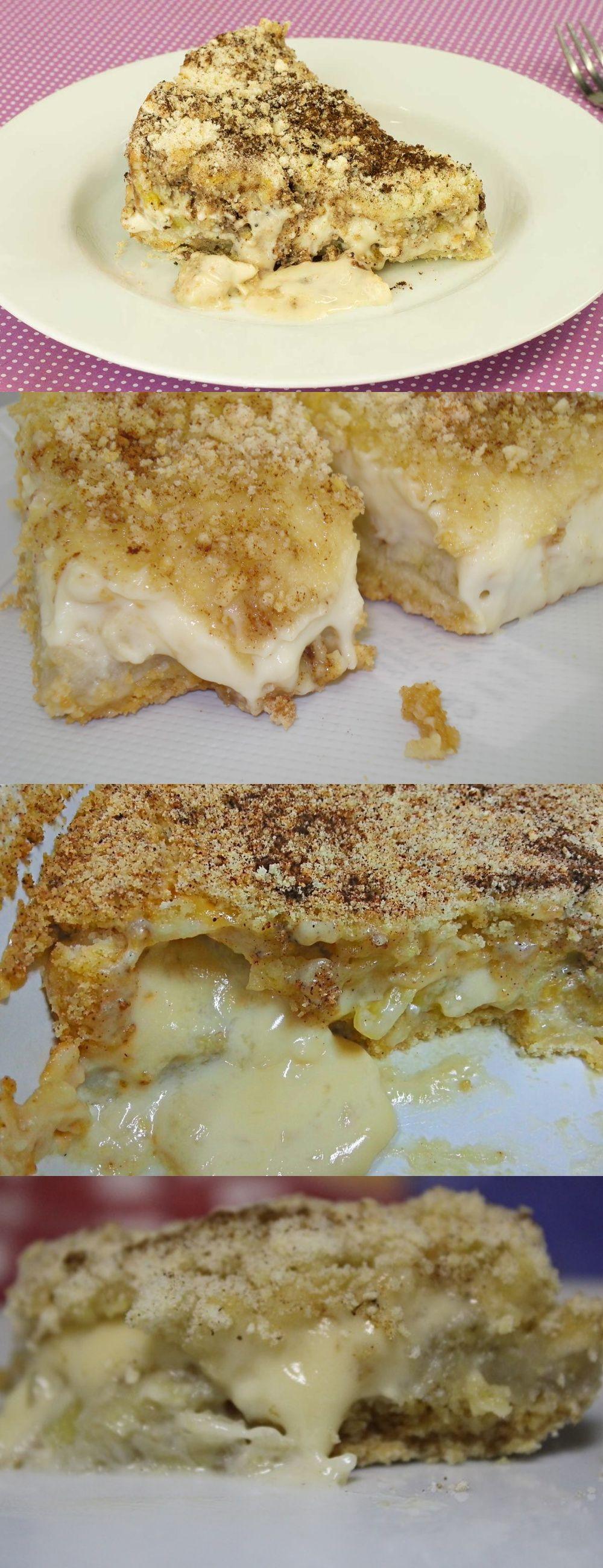 Torta Farofa De Banana Com Creme De Leite Condensado Eu Amei Essa