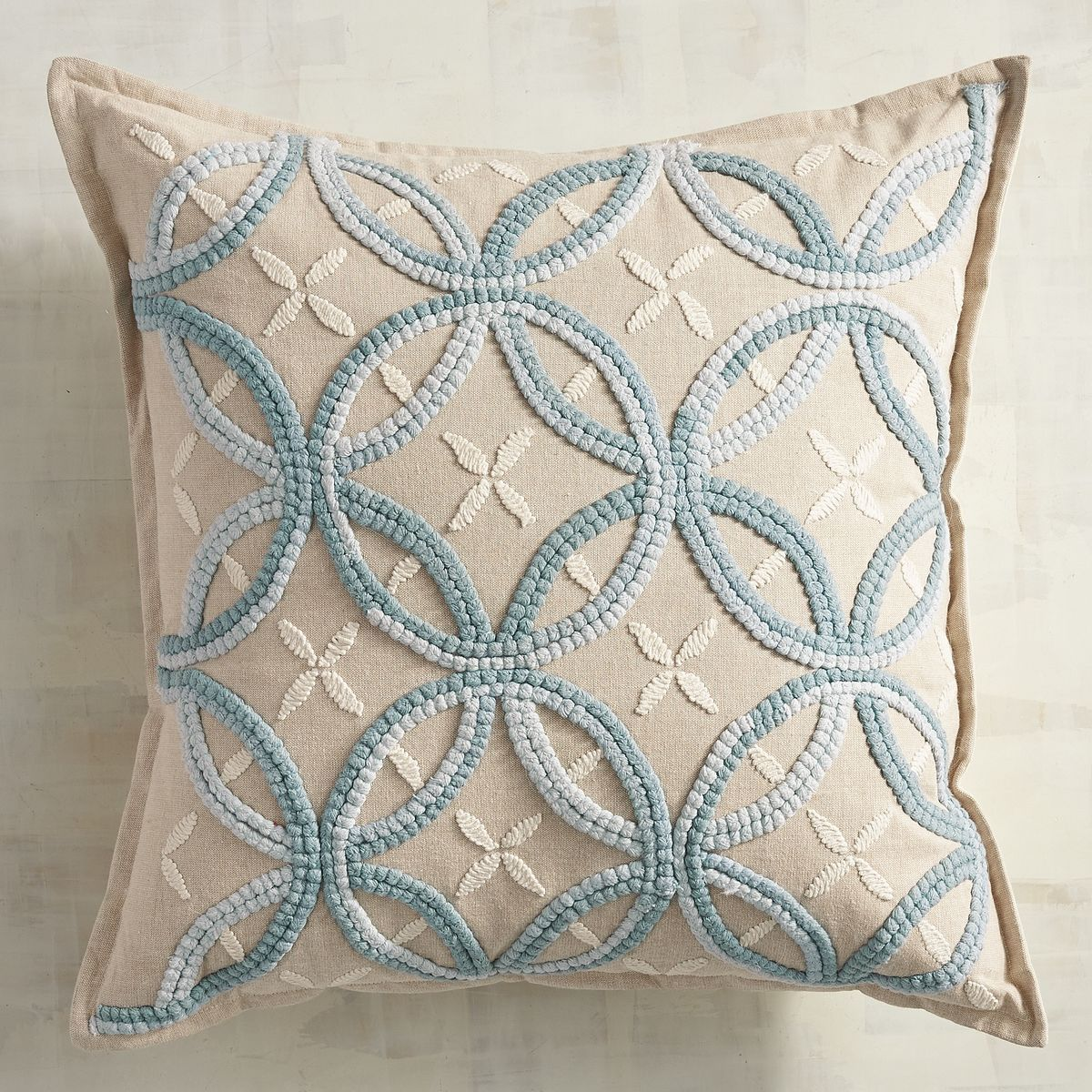 Embroidered Blue Rings Pillow Pier 1 Imports Pillows