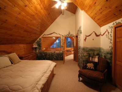 Chalet master bedroom with a lake view -- 1374 Wildwood Way, St Germain, WI 54558