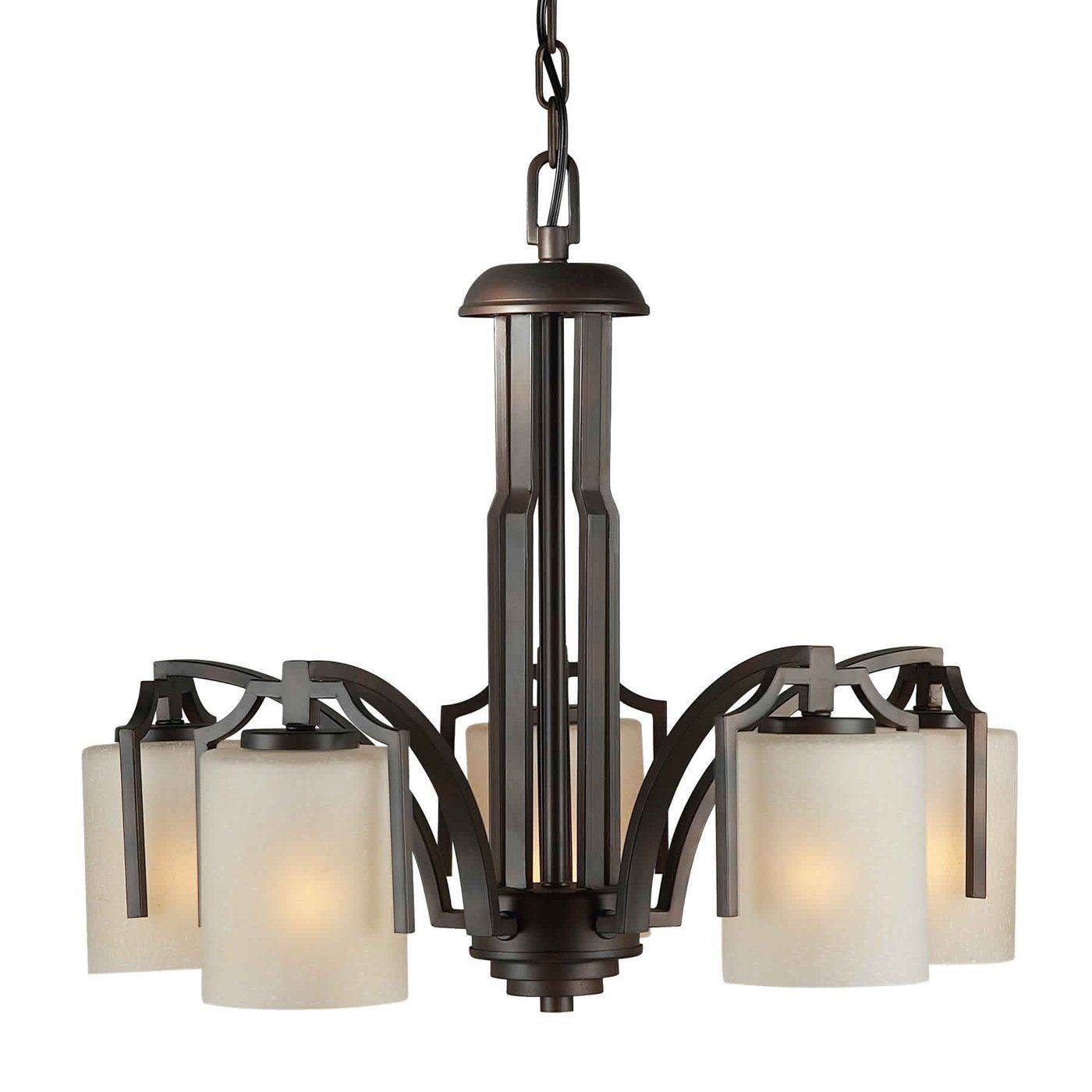 Forte Lighting 2401 05 32 5 Light Chandelier Antique Bronze