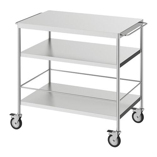 IKEA - FLYTTA Kitchen cart stainless steel in 2019 | Kitchen ...