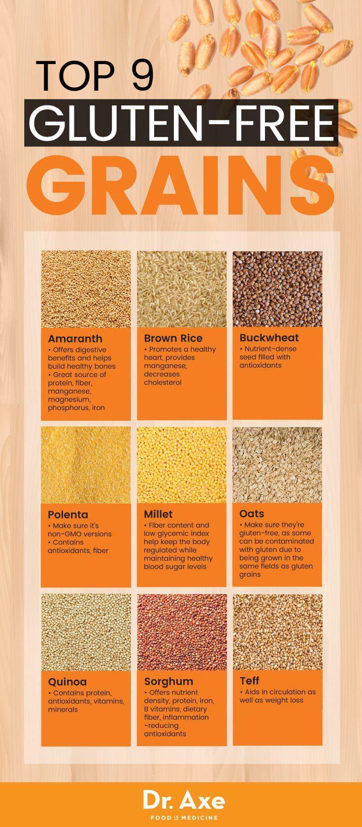 Top 9 Gluten-Free Grains #glutenfree