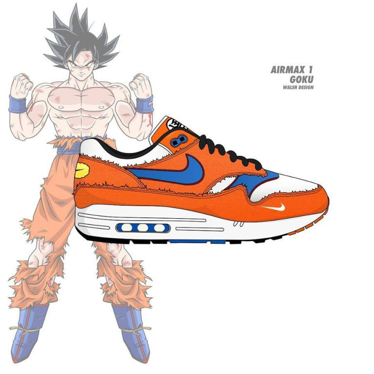 for whole family latest discount uk cheap sale dbz-nike-air-max-87-orange-son-goku (7) | Shoes in 2019 ...