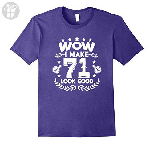 Mens Beautiful 71st Birthday T-Shirt For  Men/Women. Medium Purple - Birthday shirts (*Amazon Partner-Link)