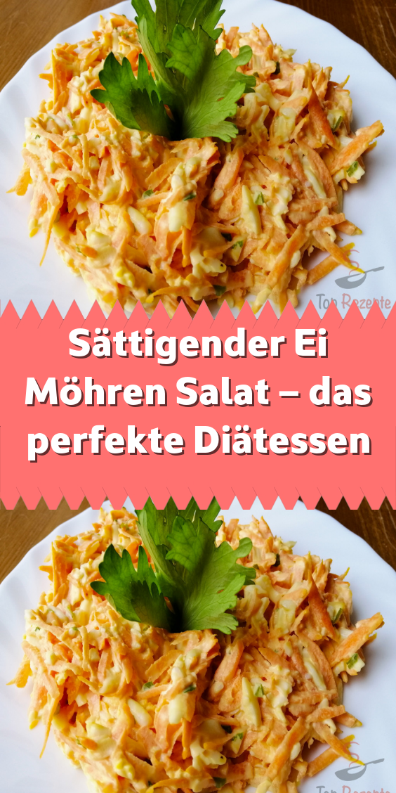 Sättigender Ei Möhren Salat – das perfekte Diätessen