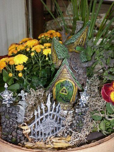 Miniature Fairy Garden Fiddlehead Georgetown 7pc Tree House Cottage In  Outdoor | EBay