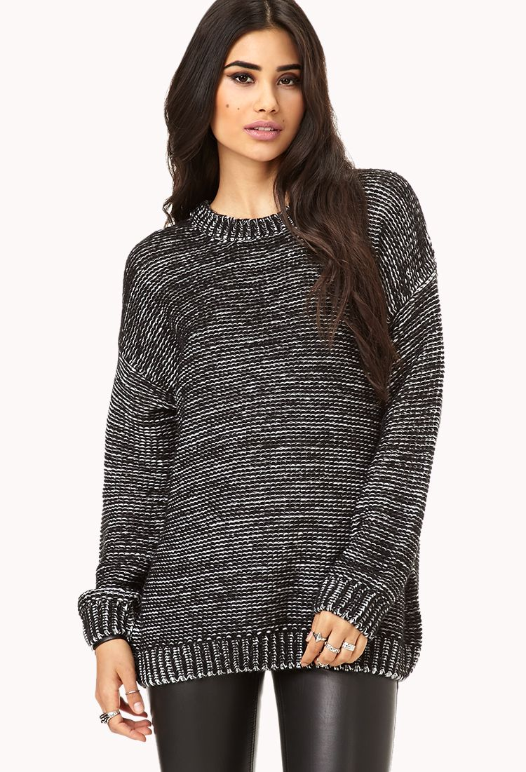 White Noise Knit Sweater | FOREVER21 - 2000075211