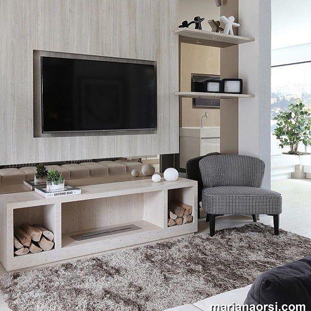 Painel + TV 😍. via @marianaorsifotografia