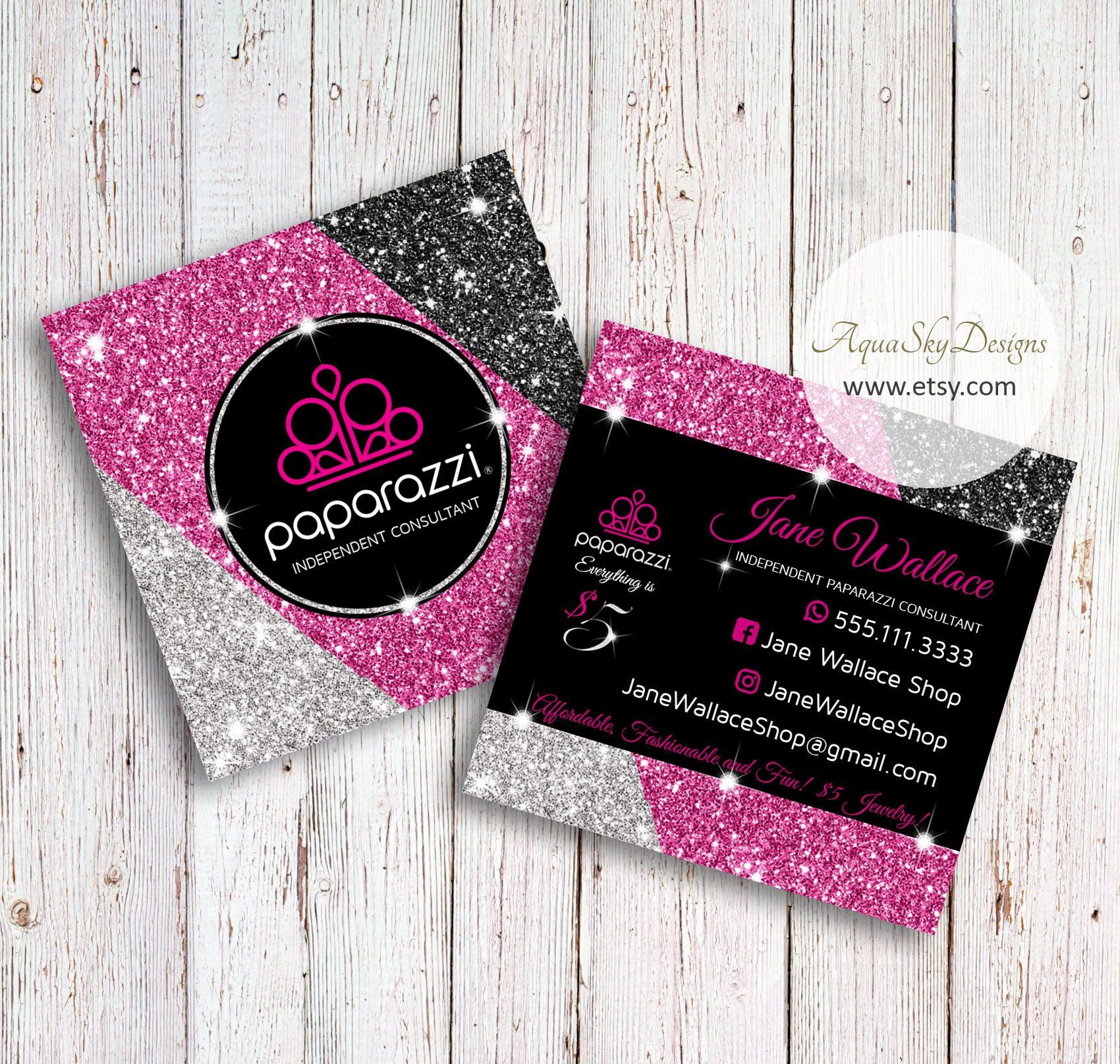 Paparazzi Business Cards Vistaprint Paparazzi Business Cards Template Paparazzi Accessori Jewelry Business Card Printable Business Cards Glitter Business Cards