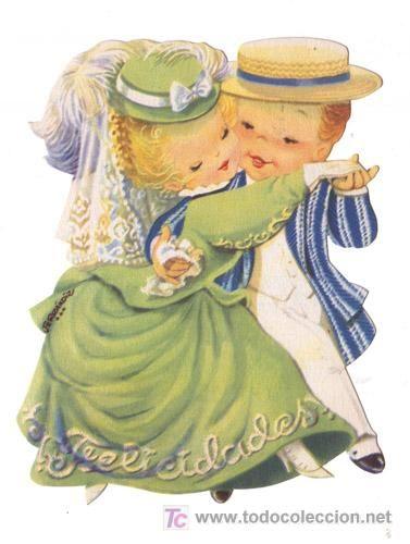 ferrandiz- postal troquelada pareja niños- 14 c - Comprar Niños en ...