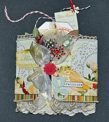 Tag Book made using Webster's Pages Botanical Christmas by Emma Trout