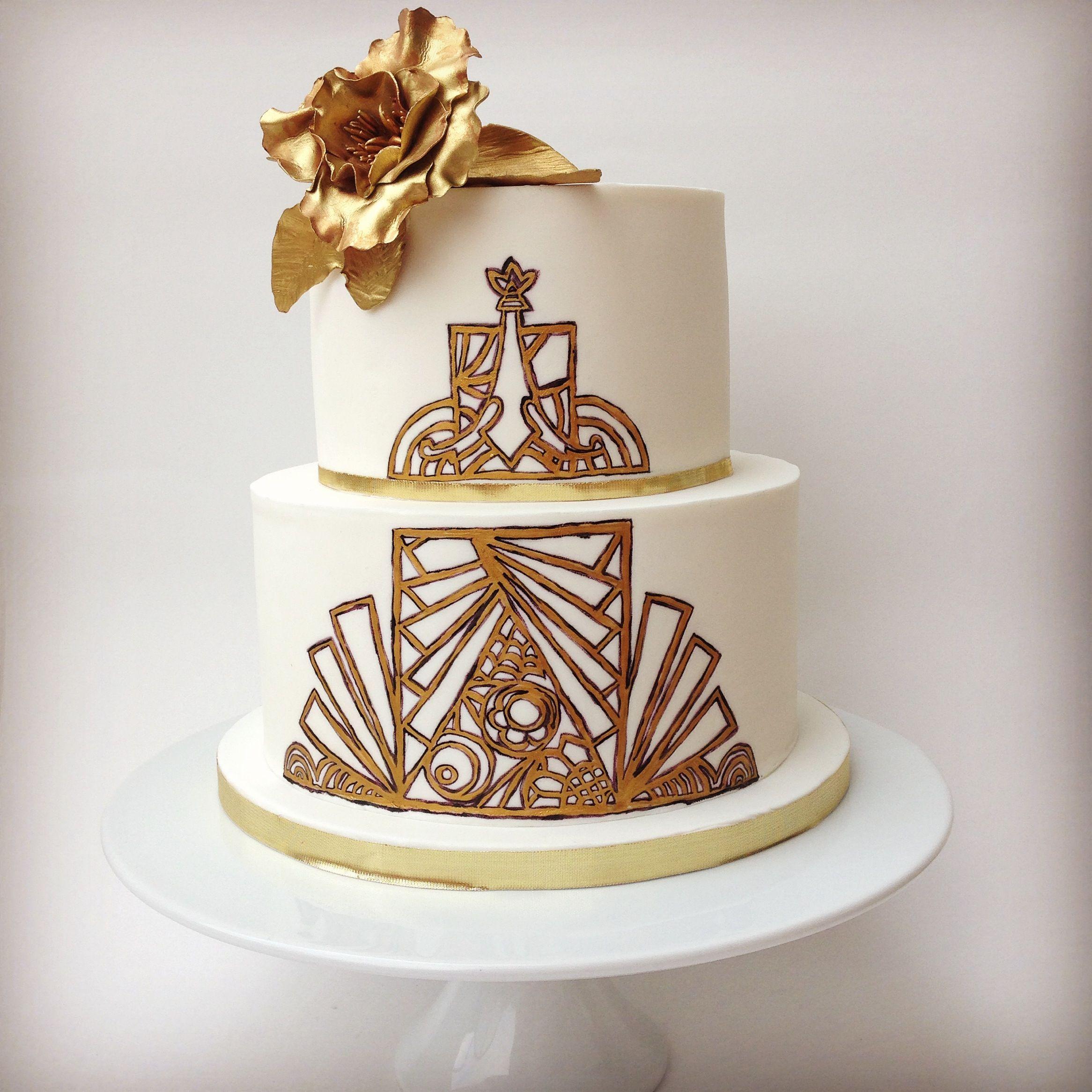 1920 s Great Gatsby wedding cake Cake by Annie