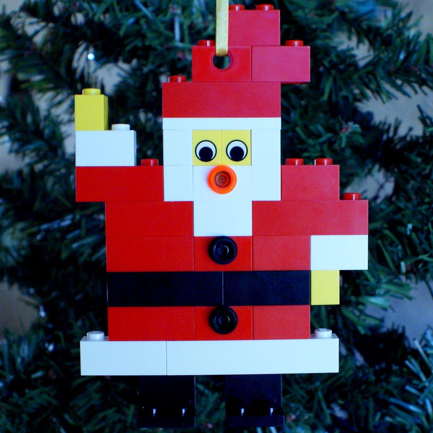 Lego christmas ornament flat santa of the proceeds benefit