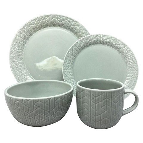 Threshold Shibori 16 Pc Dinnerware Set - Gray  sc 1 st  Pinterest & Threshold Shibori 16 Pc Dinnerware Set - Gray | Kitchen. | Pinterest ...