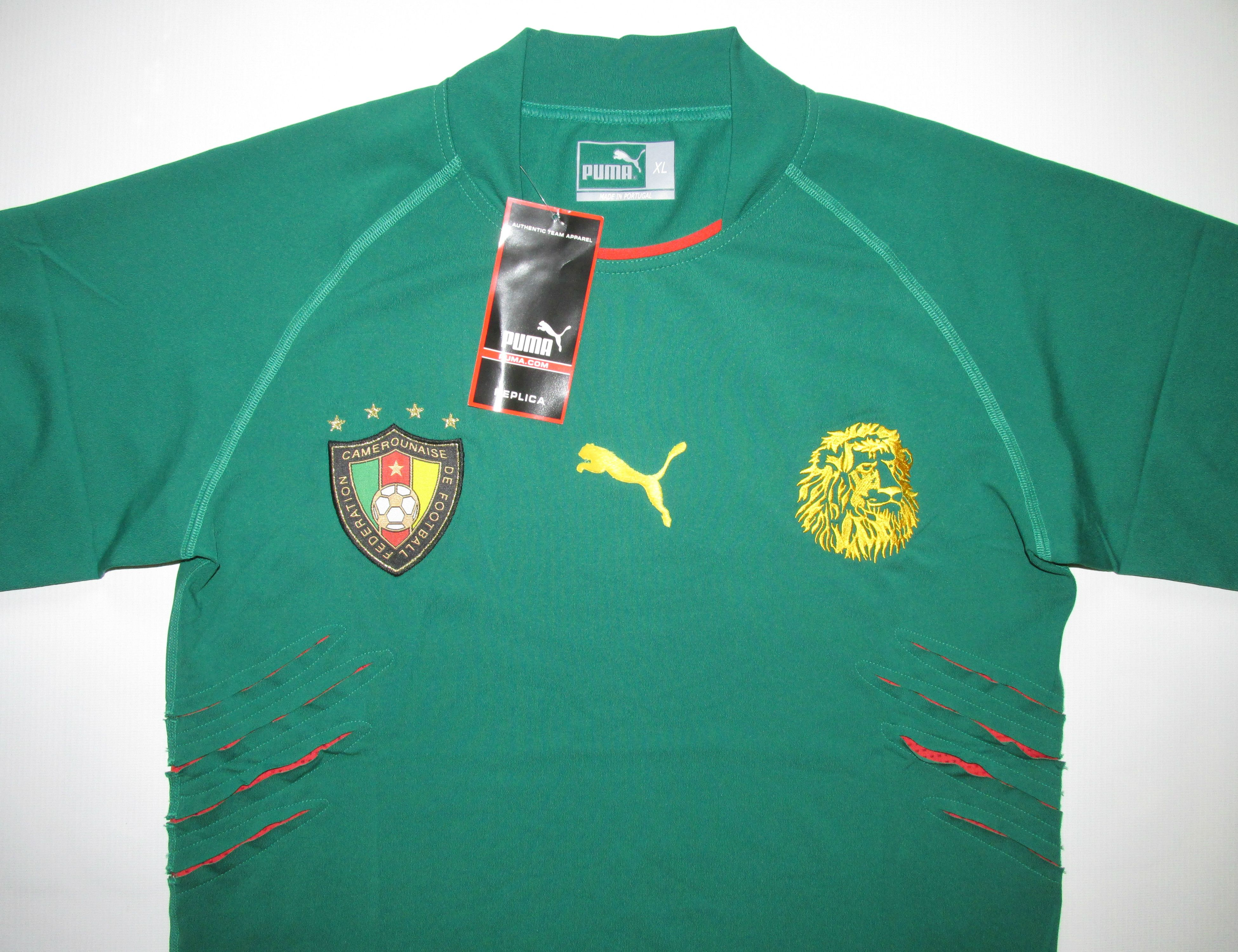 cf35db744 Cameroon 2004 2005 2006 home player issue football shirt by Puma BNWT  maillot Africa soccer jersey  cameroon  nationalteam  africa  football   soccer  puma ...