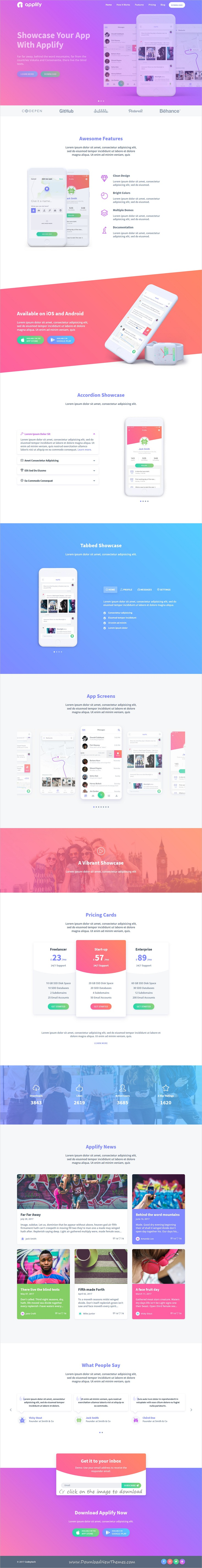 Applify - App Landing Page HTML