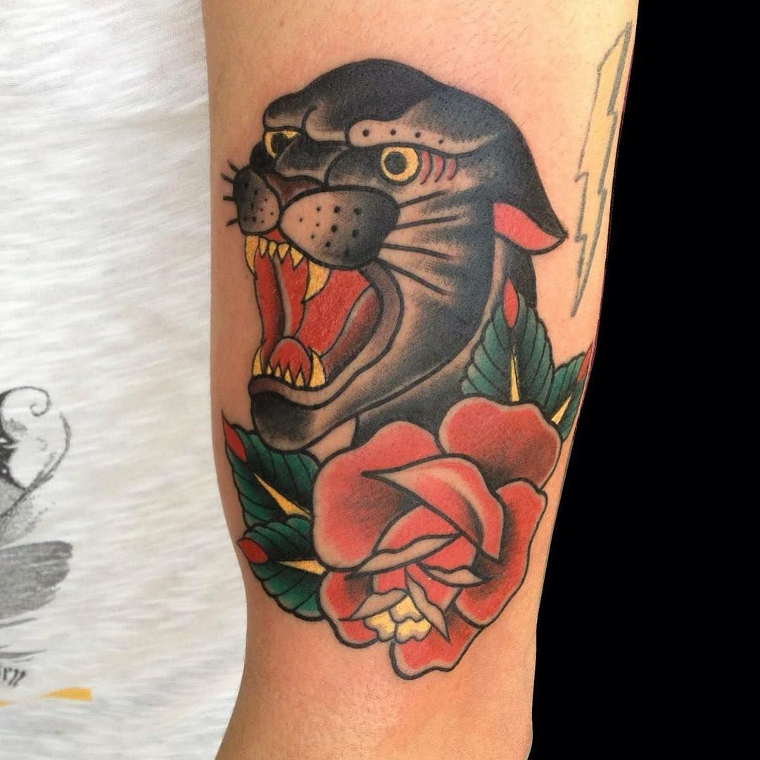 80 Elegant Black Panther Tattoo Meaning and Designs ...Traditional Black Leopard Tattoo